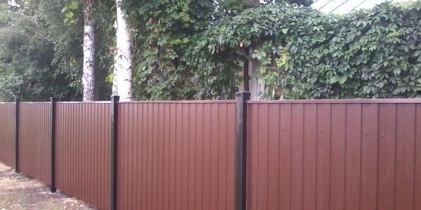 Забор с арочными распашными воротами - 6