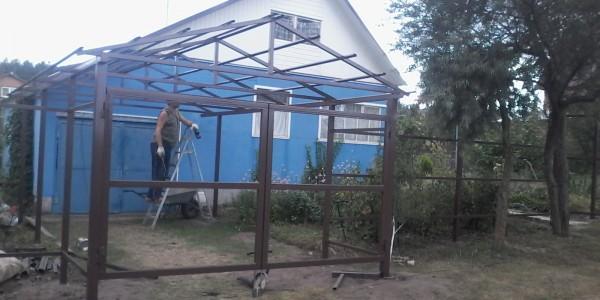 Забор из металлоштакетника монтаж - 46