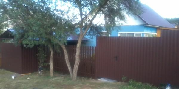 Забор из металлоштакетника - 68