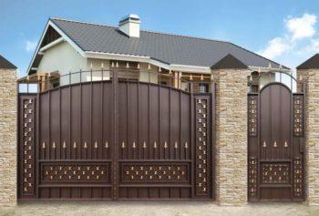 Садовые ворота с калиткой - 7