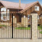 Ворота с калиткой для дачи - 2