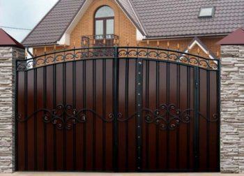 Ворота с калиткой для дачи - 4