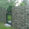 Забор из камня габион, белый камень