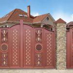 Распашные ворота 5