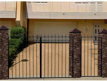 Садовые ворота с калиткой