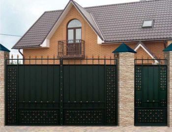 Дачные ворота с калиткой