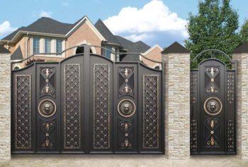 Кованные ворота со львами