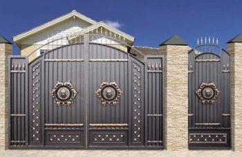 Кованные ворота со львами - 2