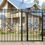 Ворота кованые дачные прямые