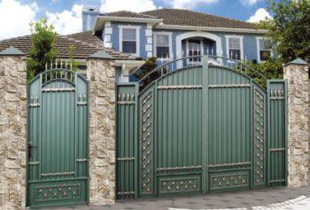 Садовые ворота с калиткой - 2