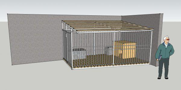 Клетка для собаки из профильной трубы проект