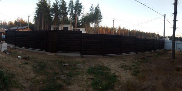 Забор профнастил 35