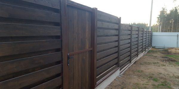Забор из планкена - 3