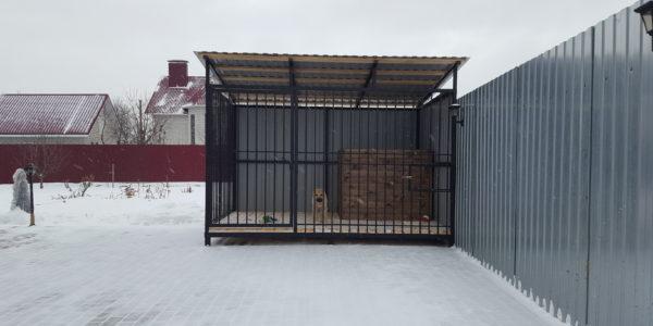 Вольер для крупной собаки зима - 2
