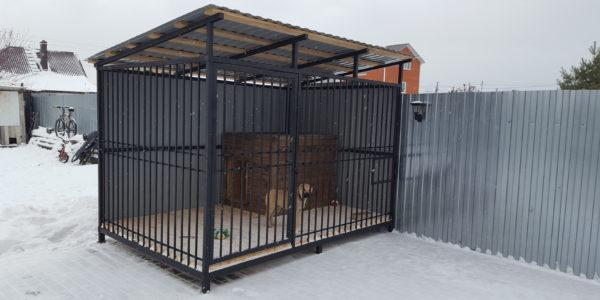 Вольер для крупной собаки зима - 3