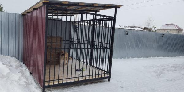 Вольер для крупной собаки зима - 4