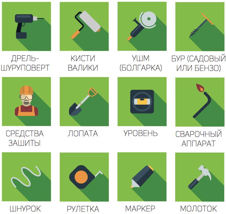 Какие инструменты нужны для установки забора из профлиста