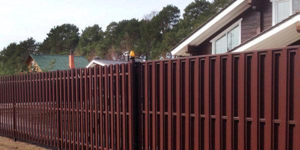 Забор из металлоштакетника - 48