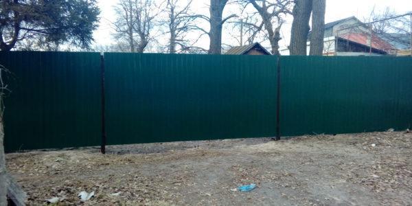 Распашные ворота - вид снаружи