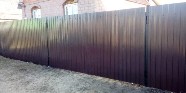 Забор из профлиста в Медовке - 4