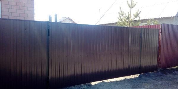 Забор из профлиста высотой 180 см