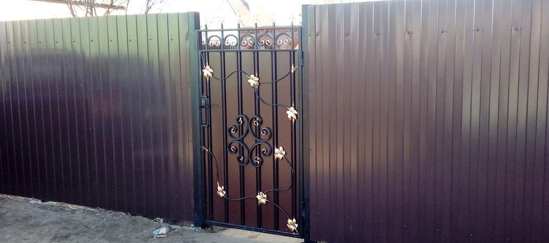 Забор из профлиста в Медовке - 14