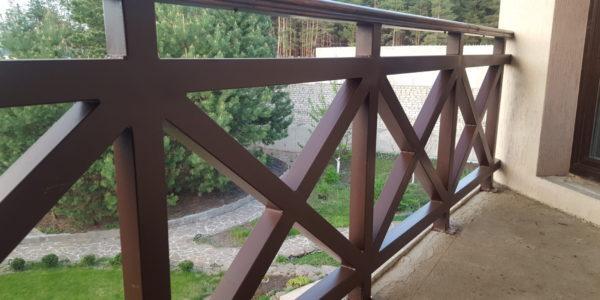 Ограждение для балкона коттеджа - 11