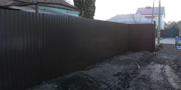 Забор из профнастила в Воронеже - 3