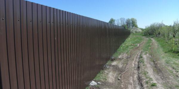 Забор из профлиста в Перлевке, Семилукская область - 5