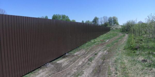 Забор из профлиста в Перлевке, Семилукская область - 6