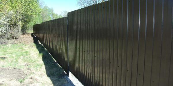 Забор из профлиста в Перлевке, Семилукская область - 8