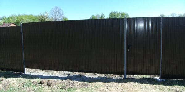 Забор из профлиста в Перлевке, Семилукская область - 9