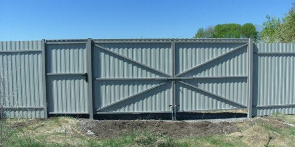 Забор из профлиста в Перлевке, Семилукская область - 11