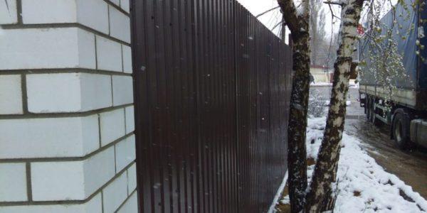 Забор из профлиста в Новоподклетном - 7