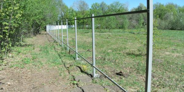 Забор из рабицы секционный - 4