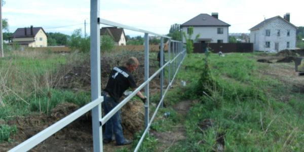 Забор из сетки рабицы - 16