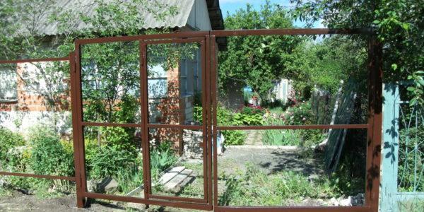 Каркас односторонних ворот со встроенной калиткой