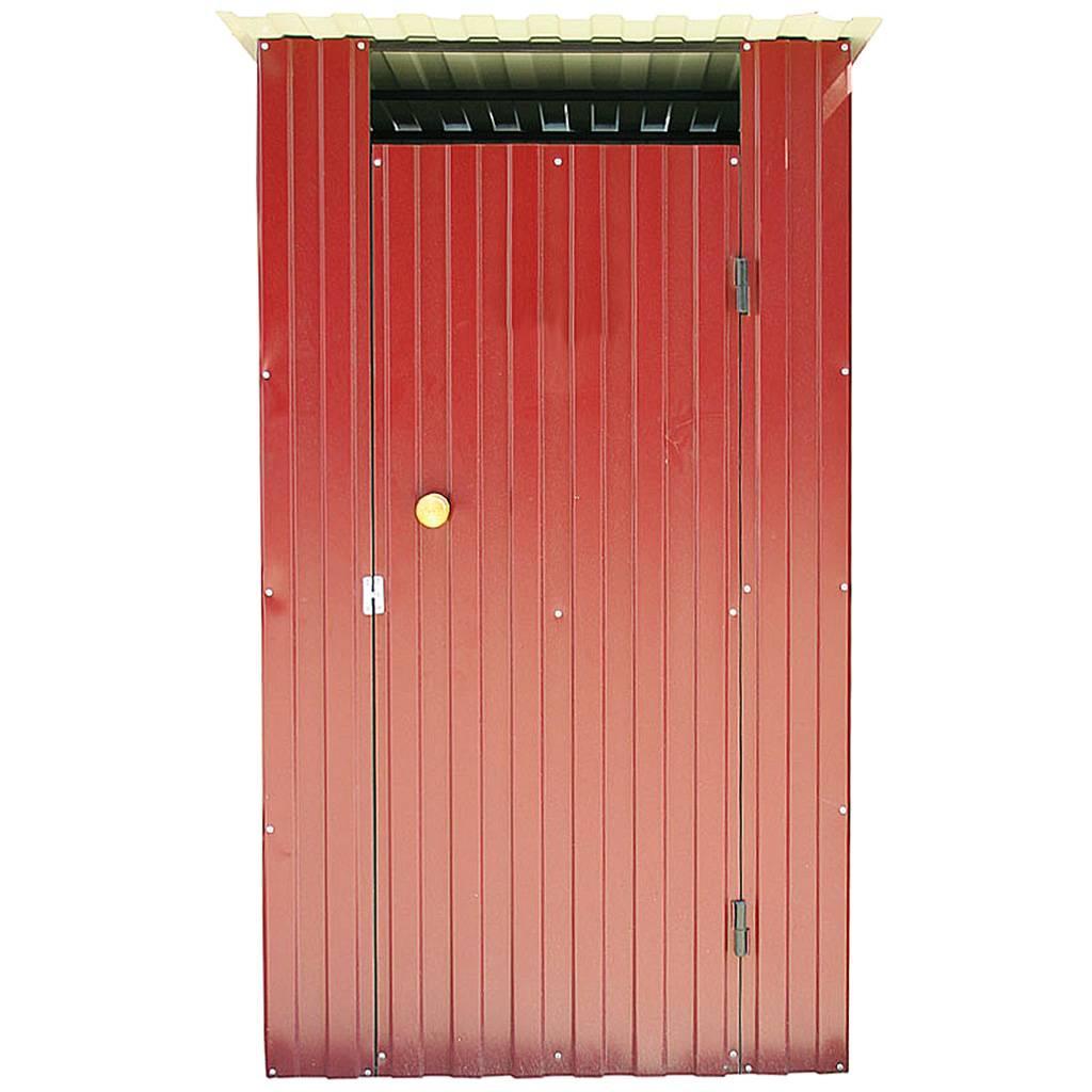 Дачный туалет из металла красный - 3