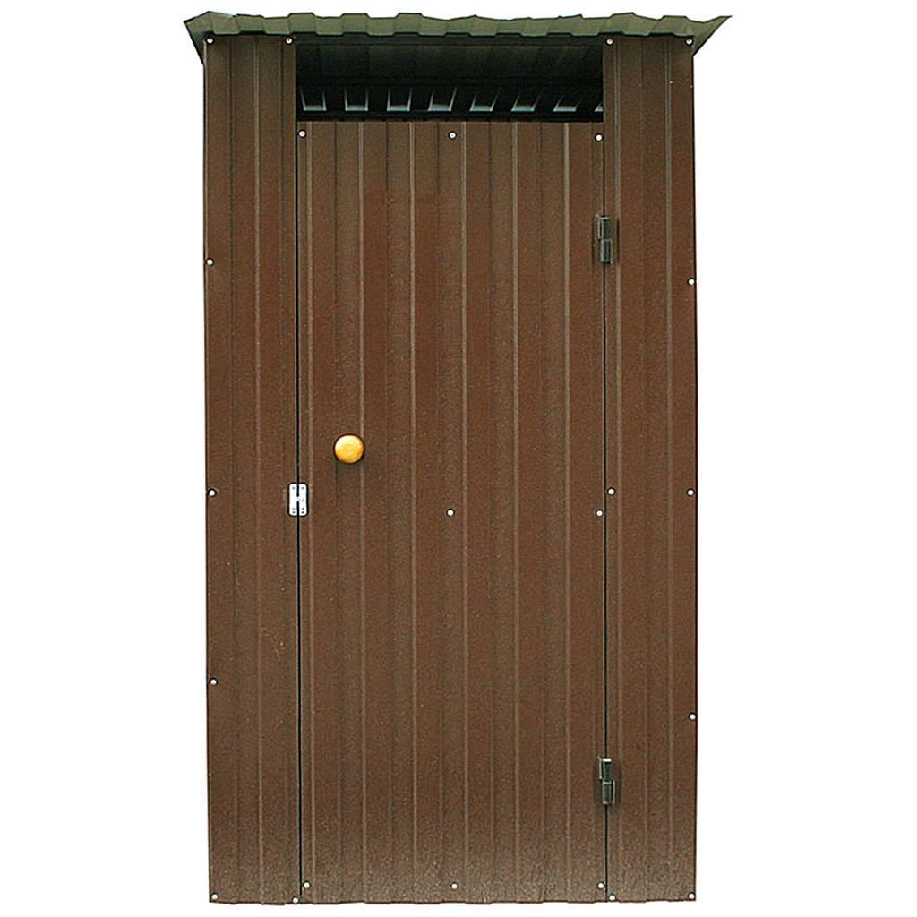 Дачный туалет из металла коричневый