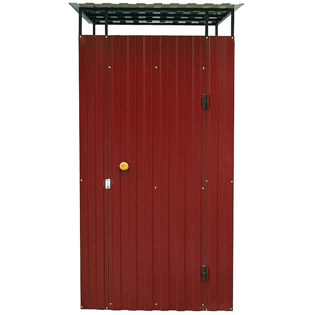 Дачный туалет из металла красный - 2