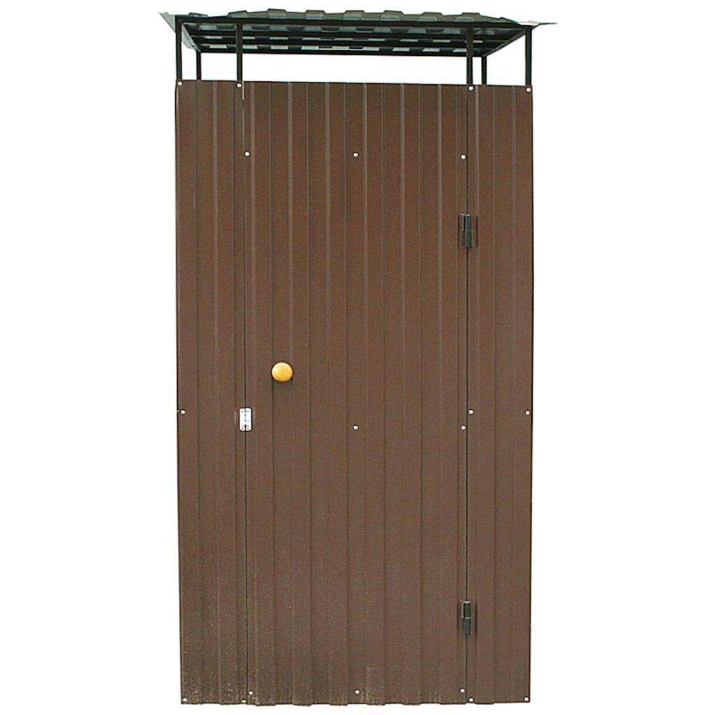 Дачный душ из металла коричневый