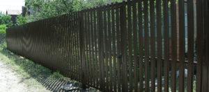 Забор - ворота и калитка материал металлоштакетник