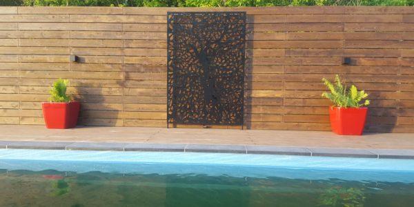 Отделка бассейна планкеном и панелями лазерной резки - 8