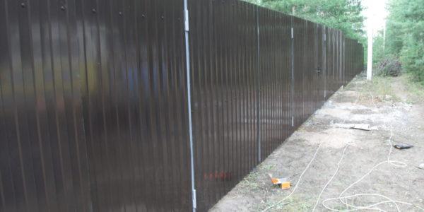 Забор из профнастила 3d - 19