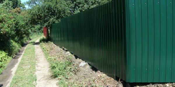 Забор из профлиста высота 1.8 - 47