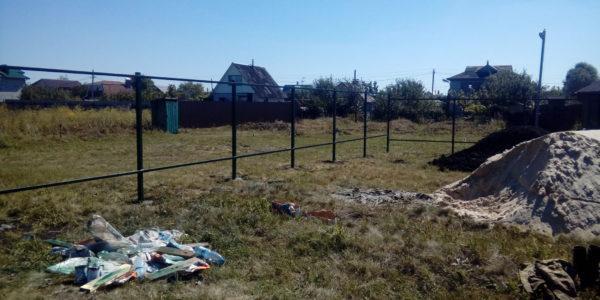 Забор из профнастила в селе Парусное - 12