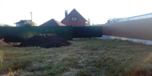 Забор из профнастила в селе Парусное - 17