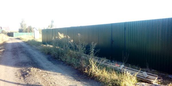 Забор из профнастила в селе Парусное - 19