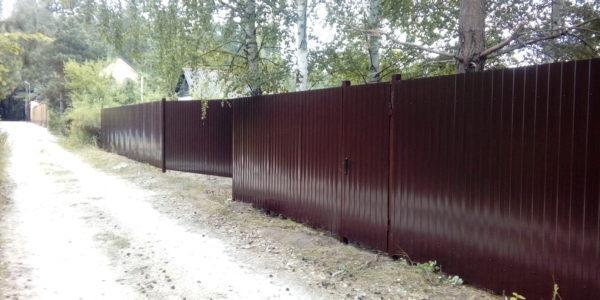 Забор из профнастила мп 20 - 3