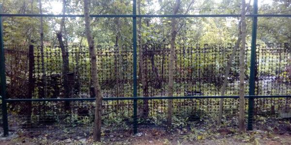 Забор из профнастила в селе Чертовицы - 4